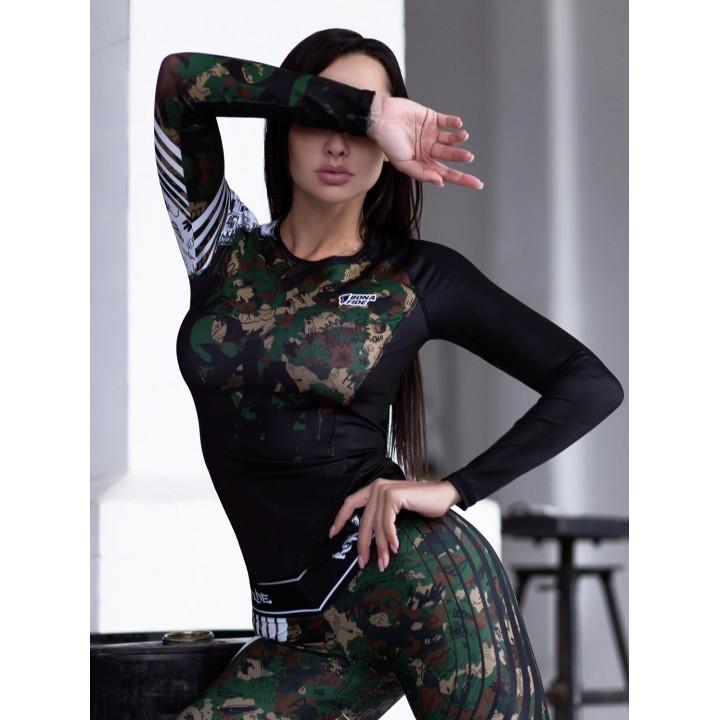"Рашгарды Bona Fide: Rashguard Round Military Edition ""Khaki"""