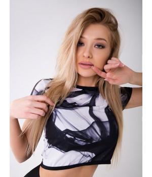 "Bona Fide: T-Shirt Mini ""Black Aqua"""